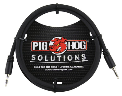 Pig Hog Solutions - 3.5mm TRS to 3.5mm TRS, 9ft cable