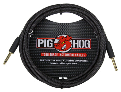 "Pig Hog ""Black Woven"" Instrument Cable, 10ft"