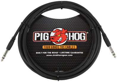 "Pig Hog 15ft 1/4"" TRS - 1/4"" TRS Cable"