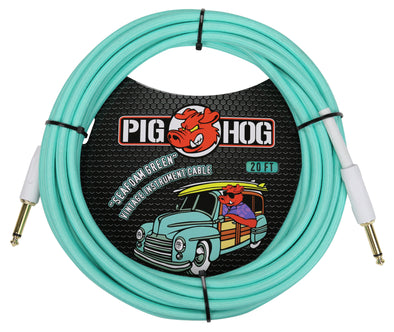 "Pig Hog ""Seafoam Green"" Instrument Cable, 20ft"