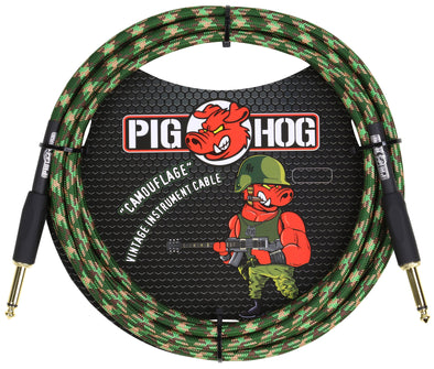 "Pig Hog ""Camouflage"" Instrument Cable, 10ft"