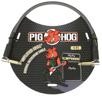 "Pig Hog ""Amplifier Grill"" 1ft Right Angled Patch Cable"