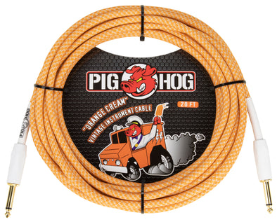 "Pig Hog ""Orange Crème 2.0"" Instrument Cable, 20ft"