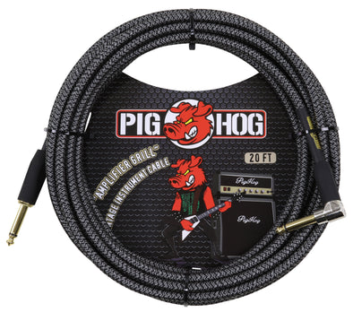 "Pig Hog ""Amplifier Grill"" Instrument Cable, 20ft Right Angle"