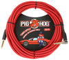 "Pig Hog ""Candy Apple Red"" Instrument Cable, 20ft. Right Angle"