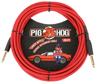 "Pig Hog ""Candy Apple Red"" Instrument Cable, 20ft"