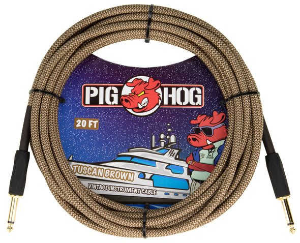 "Pig Hog ""Tuscan Brown"" Instrument Cable, 20ft"