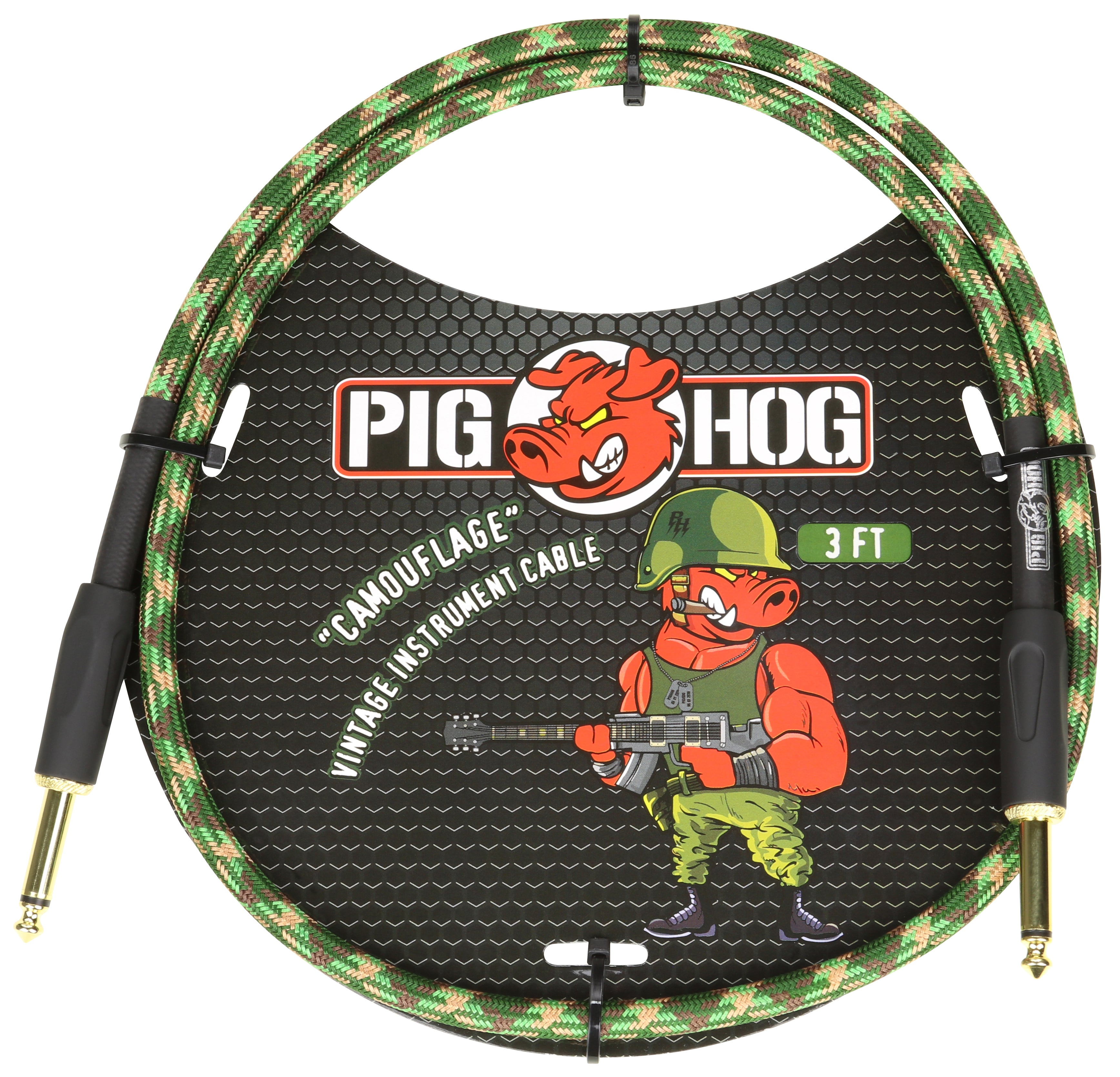 Pig Hog Camouflage 3ft Patch Cable Catalog Product Computer Cables
