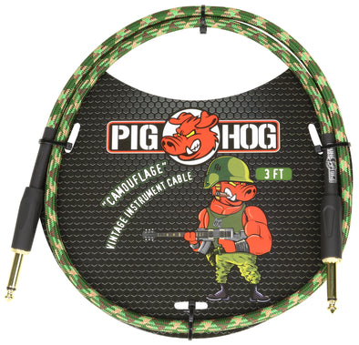 "Pig Hog  ""Camouflage"" 3ft Patch Cable"