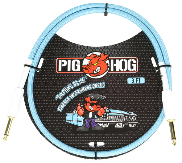"Pig Hog ""Daphne Blue"" 3ft Patch Cable"