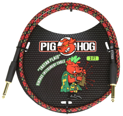 "Pig Hog ""Tartan Plaid"" 3ft Patch Cable"