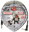 "Pig Hog ""Armor Clad"" Instrument Cable, 20ft Right Angle"