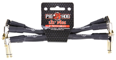 Pig Hog Lil Pigs 6in Patch Cables - 4 pack