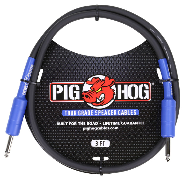 Pig Hog 9.2mm Speaker Cable, 3ft (14 gauge wire)