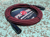 Pig Hog Black & Red Woven Mic Cable, 20ft XLR