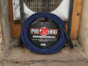 Pig Hog Black & Blue Woven Mic Cable, 20ft XLR