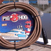 "Pig Hog ""Tuscan Brown"" Woven Mic Cable, 20ft XLR"