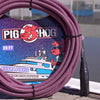 "Pig Hog ""Riviera Purple"" Woven Mic Cable, 20ft XLR"