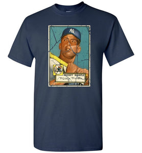 1952 Topps Mickey Mantle RC Yankees Mens T-shirt