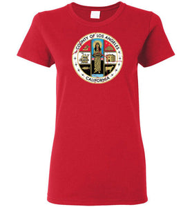 Los Angeles County California Distressed Ladies T-shirt