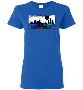 Suite Teez Faded Blues Ladies Label T-shirt