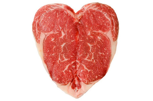 16oz USDA Prime Beef Bnls Rib Eye Steak (Heart Shaped)