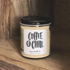 9 oz. Clear Jar Candle - Coffee & Chill - Handcrafted