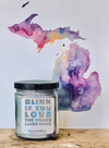 9 oz. Clear Jar Candle - Blink if you Love | MI Bucket List