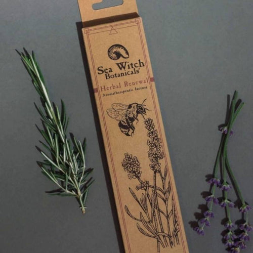 All-Natural Incense: Herbal Renewal- With Lavender & Rosemary Essential Oil