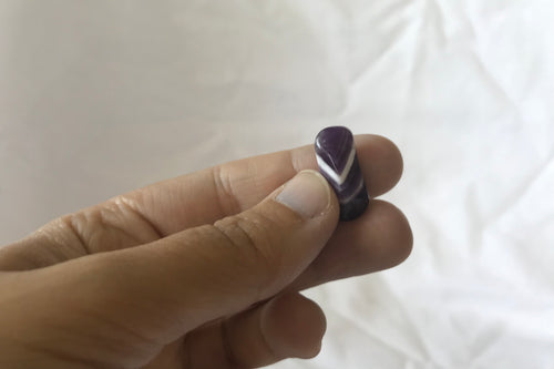 Banded Amethyst Tumbled
