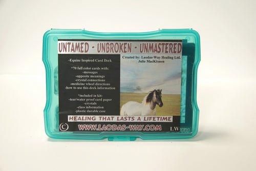 UNTAMED  UNBROKEN  UNMASTERED  CARD DECK