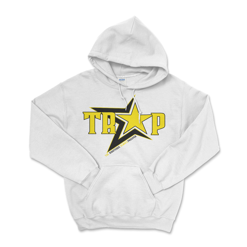 TRAP The Righteous Always Prosper white hoodie 004