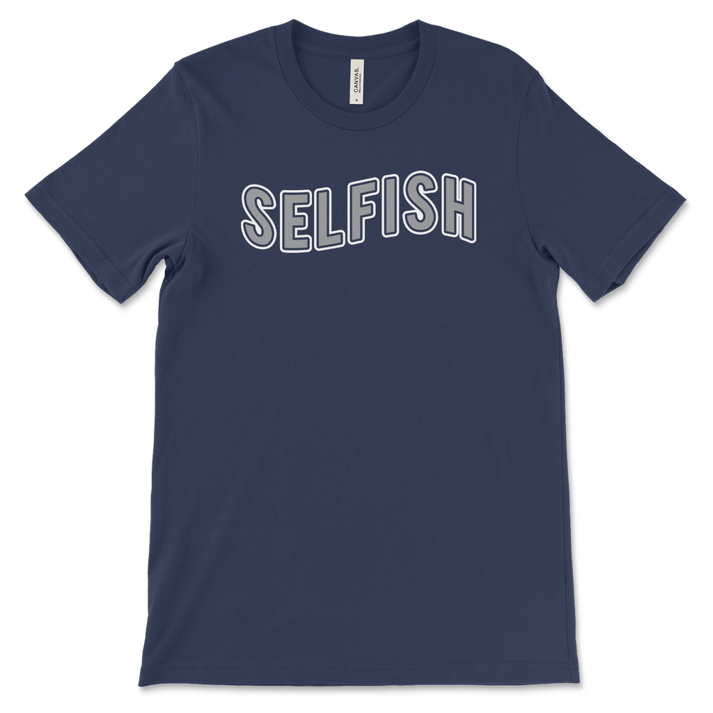 Selfish Gray navy tee