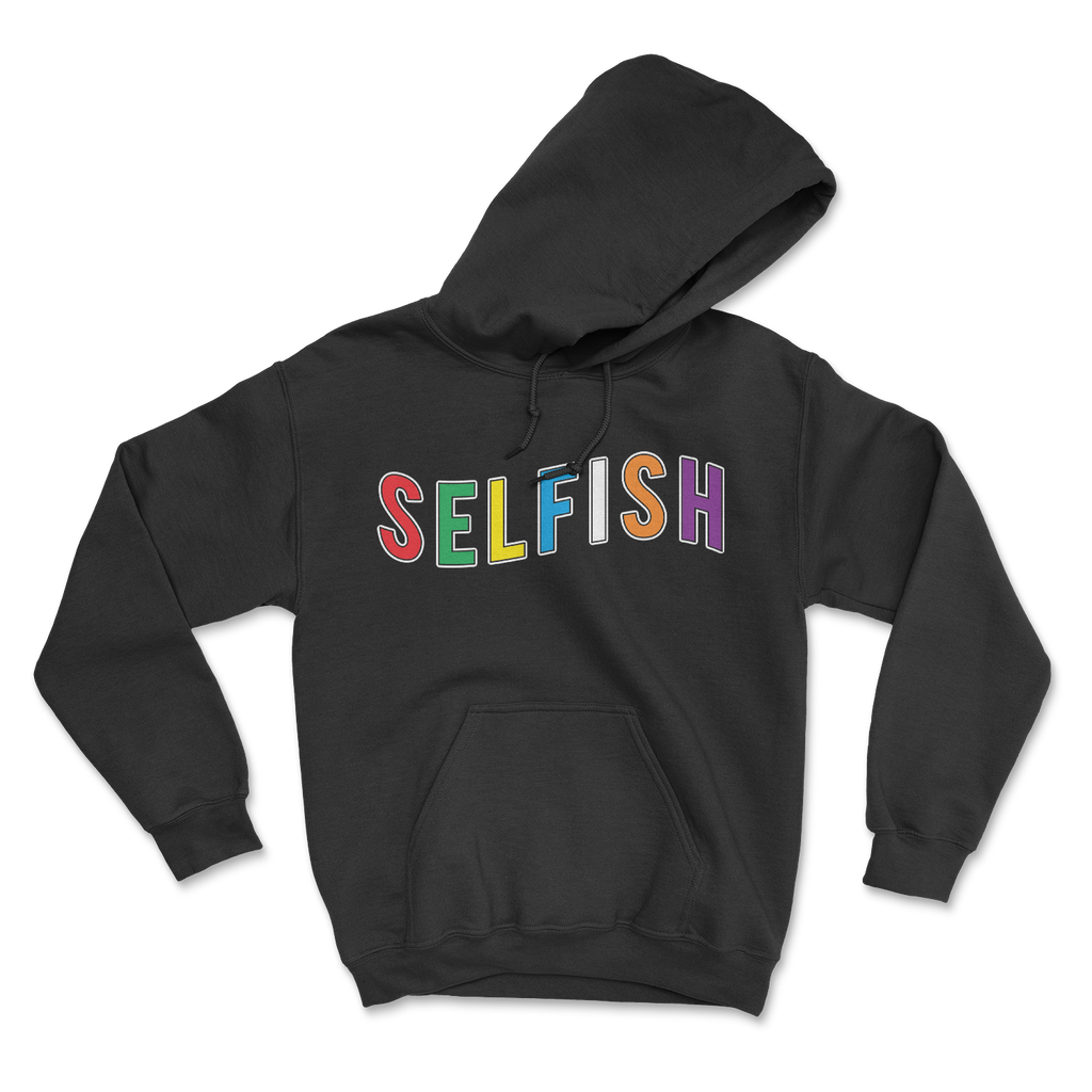 Selfish Colors black hoodie
