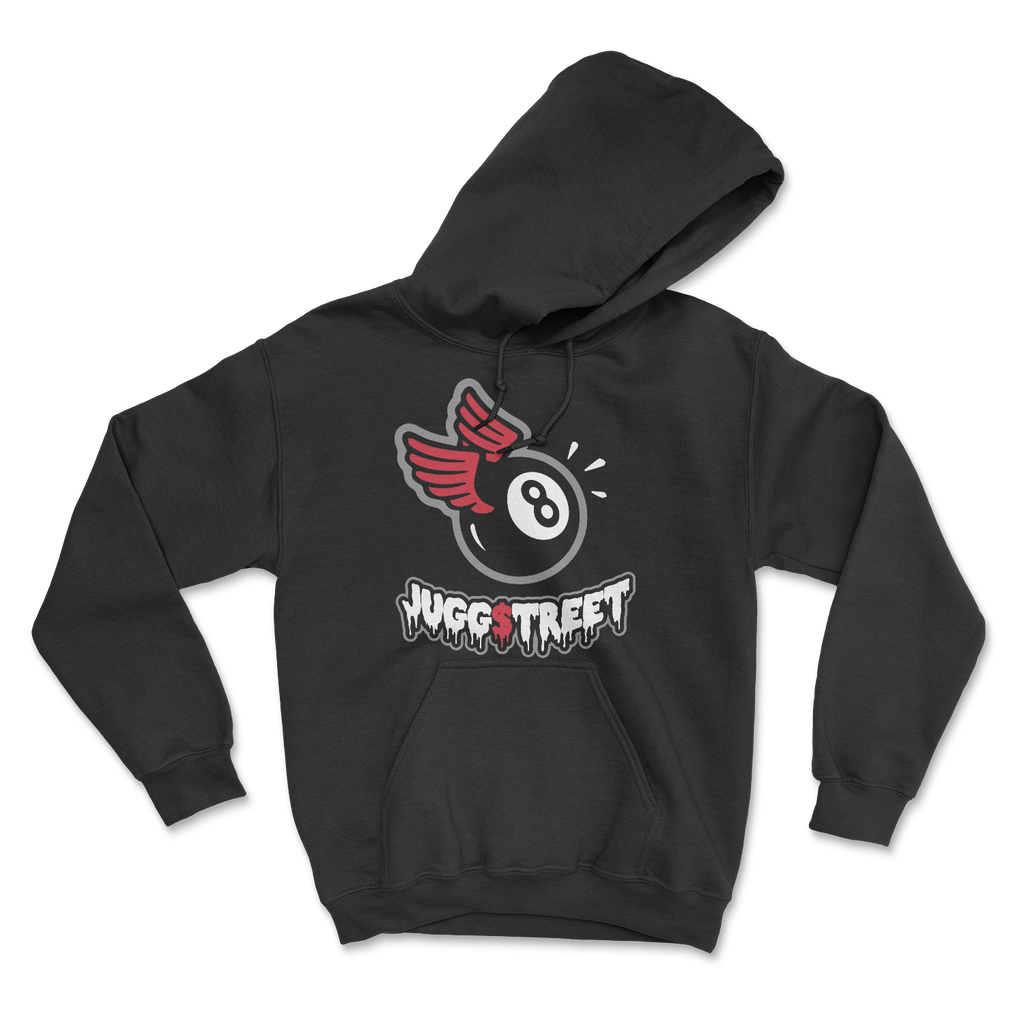 Jugg Street 8 Ball wings black hoodie 001
