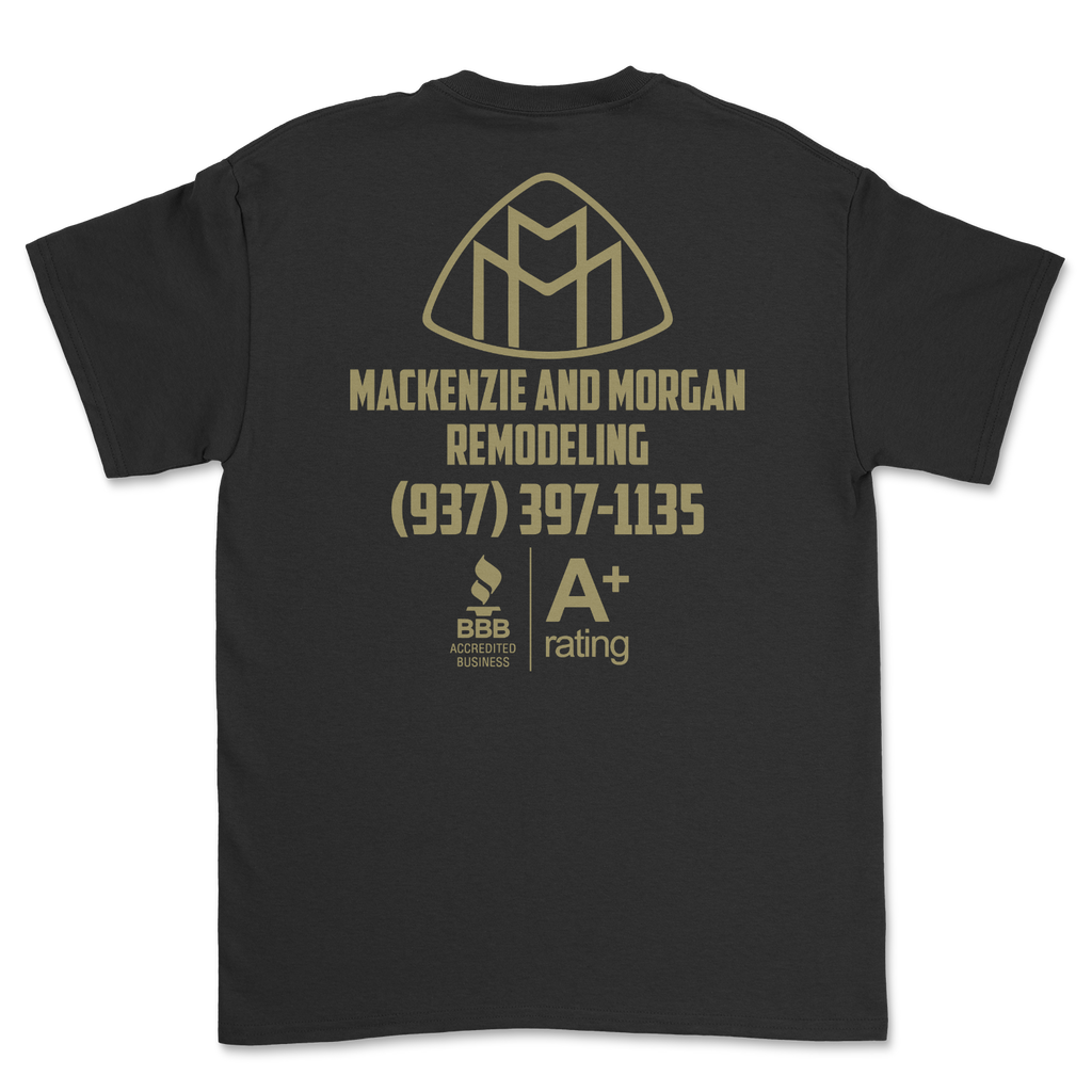 Mackenzie and Morgan Remodeling A+ Rating black tee 004