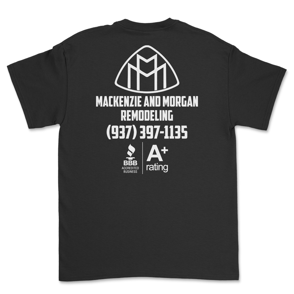 Mackenzie and Morgan Remodeling A+ Rating black tee 005