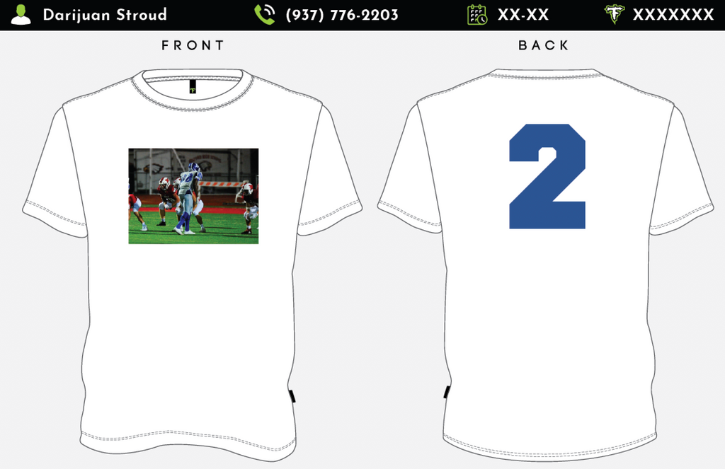 Football Player #2 shirts by Darijuan Stroud
