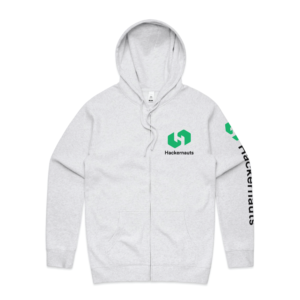 Hackernauts Zip Hoodie - White Heather