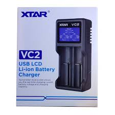 XTAR VC2 Charger with LCD Screen Display for 18650 26650 Battery