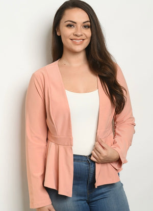 Peach Plus Size Blazer