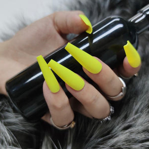 Neon Lemon Nail Set