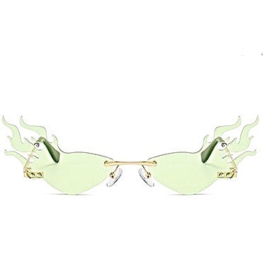Mint Flame Glasses