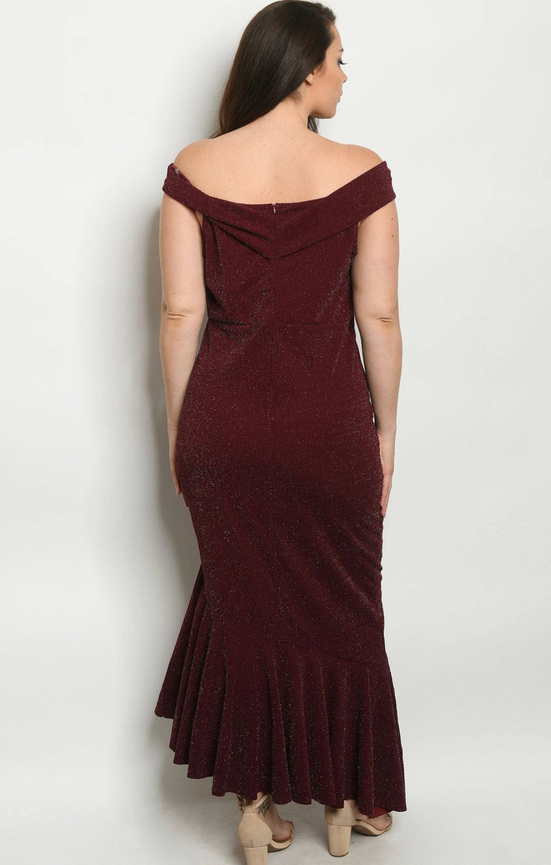 Burgundy Raza Plus Size Dress
