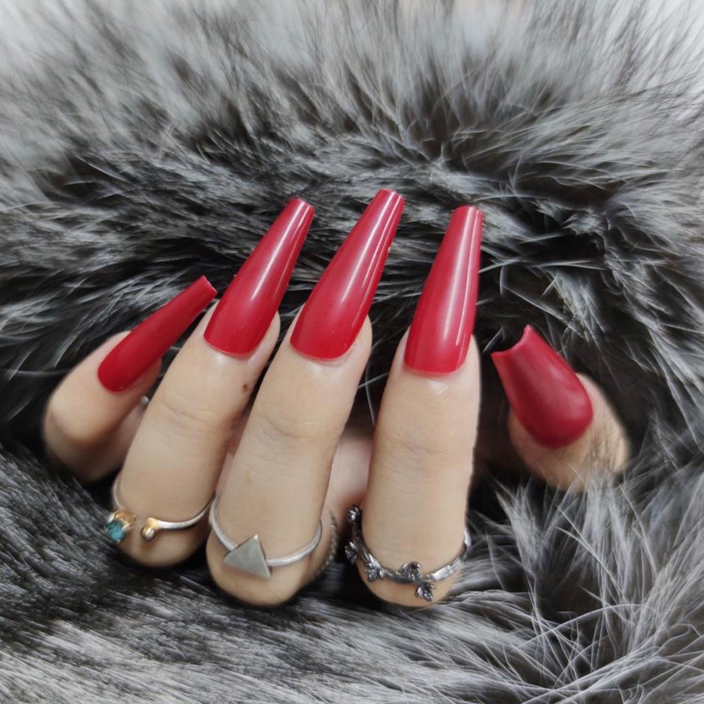 Cherry Glassed Nail Set