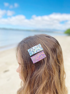 Snap Clip | Abalone Leather