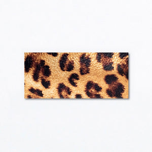 Snap Clip | Gold Leopard Leather