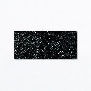 Snap Clip | Black Velvet with Silver Tinsel