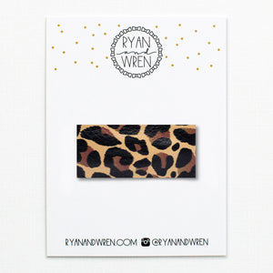 Snap Clip | Leopard Leather