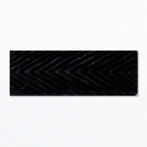 Snap Clip | 'Batty' | Black Velvet Chevron